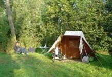 jachtige kampeerbosje