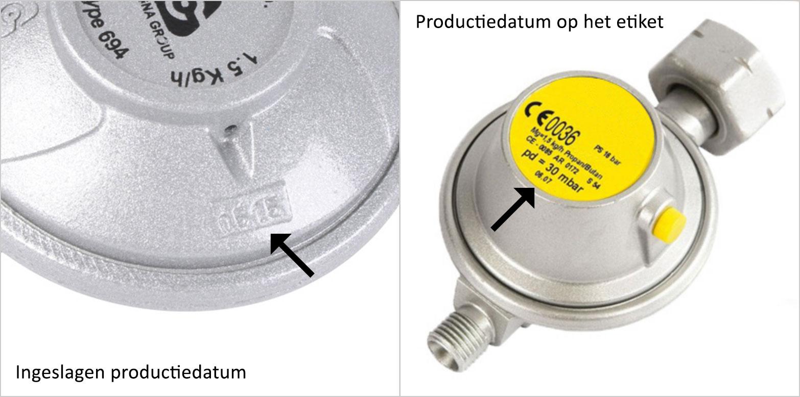 productiedatum drukregelaar