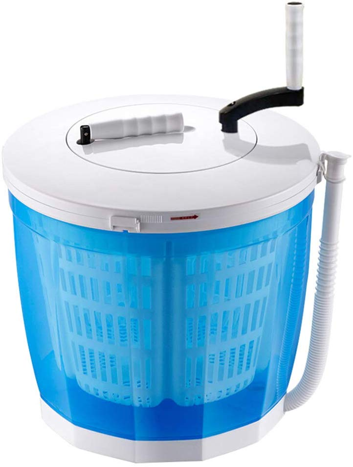 kleine wasmachine met handslinger