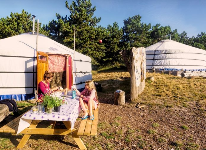 Logeren in een yurt