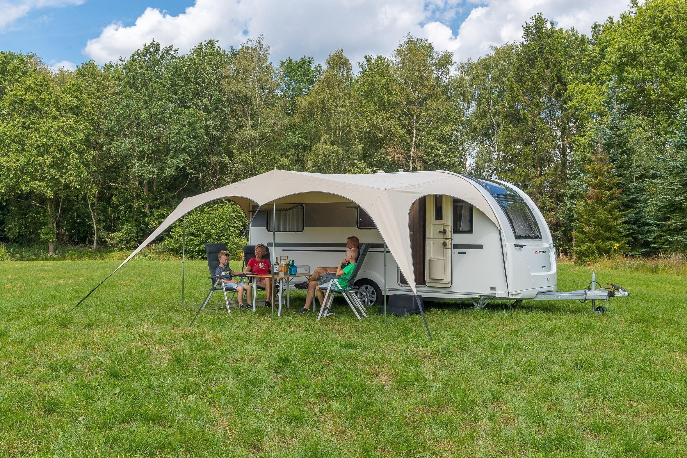 meest populair voortreffelijk ontwerp best Campooz introduceert caravan luifel - KampeerMagazine.nl