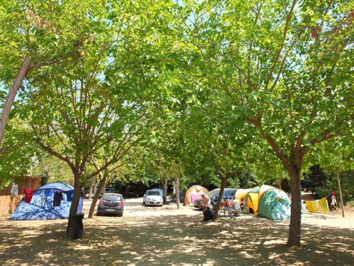 Camping loret blau