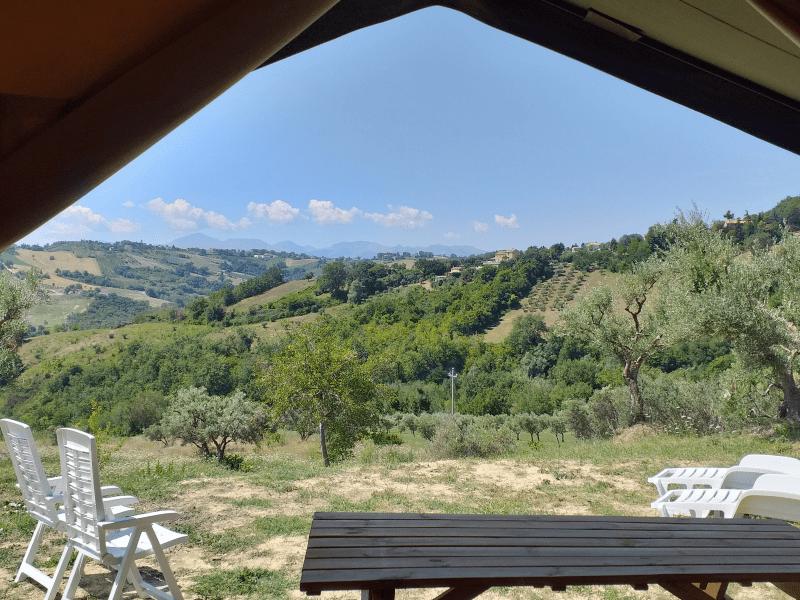 Safaritent uitzicht