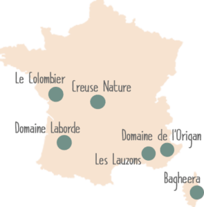 Map campings Frankrijk