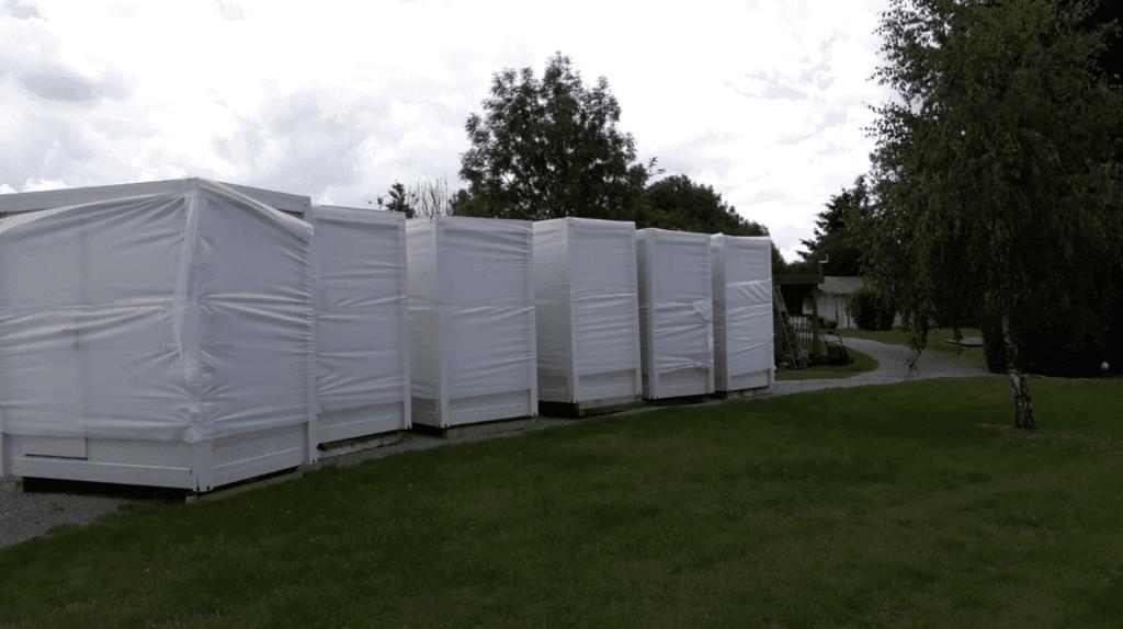 Geleverde sanitaire units