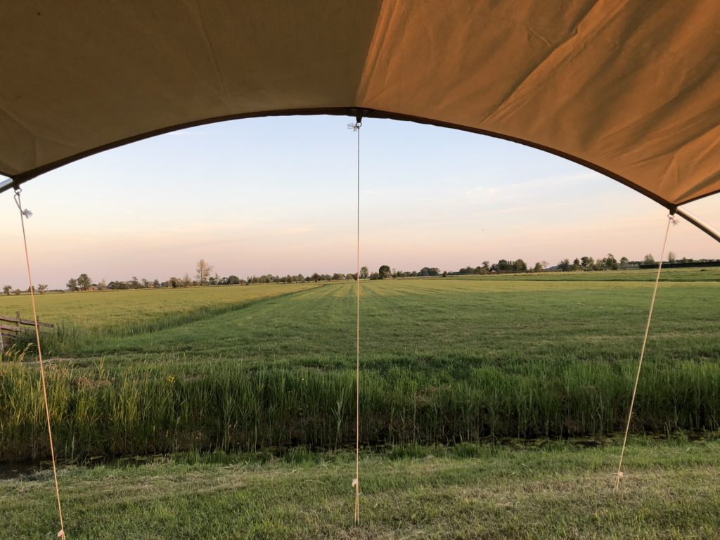 Prachtig uitzicht op de boerderij