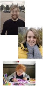 Berend, Martine en Hadewych