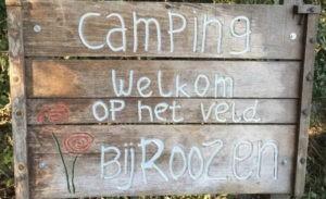 Camping Bij Roozen Op het veld