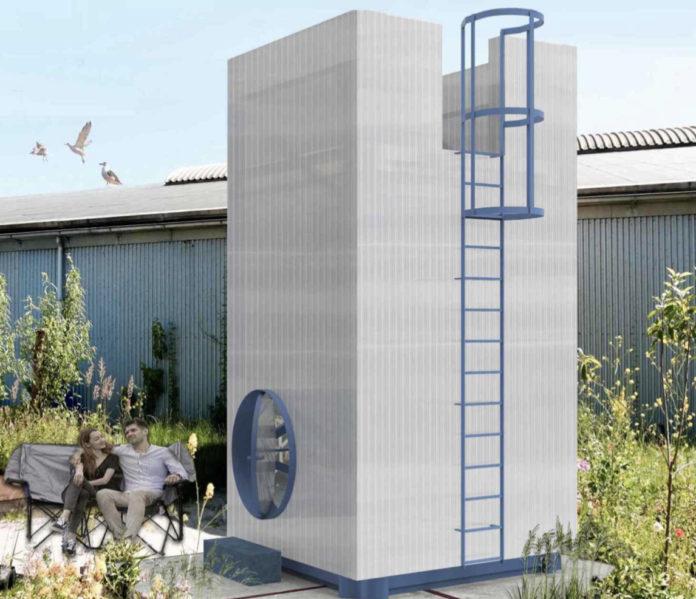 De kleinste toren van Rotterdam wordt gebouwd
