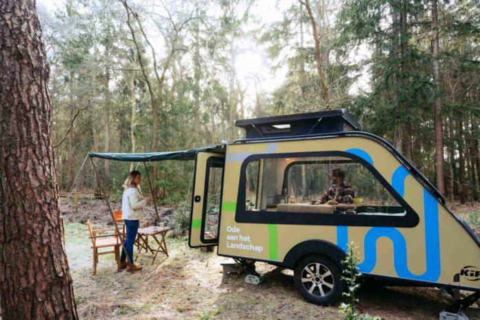 Primeur! NBTC / Holland Marketing tourt met Panorama caravan