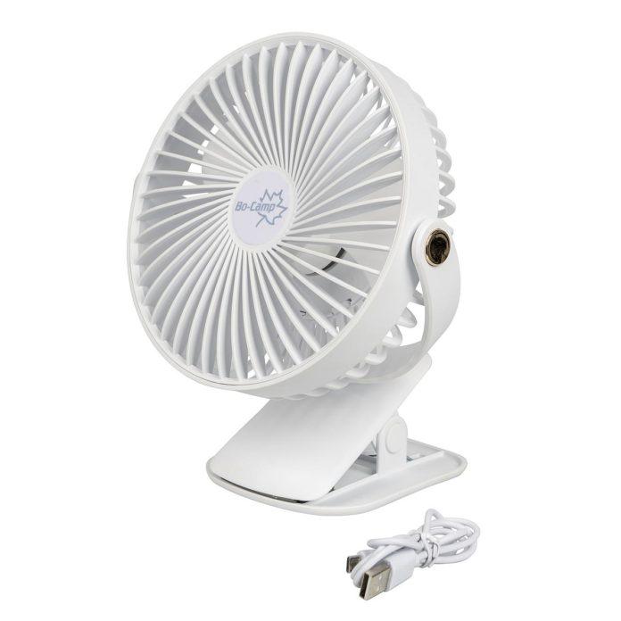 oplaadbare ventilator met klem