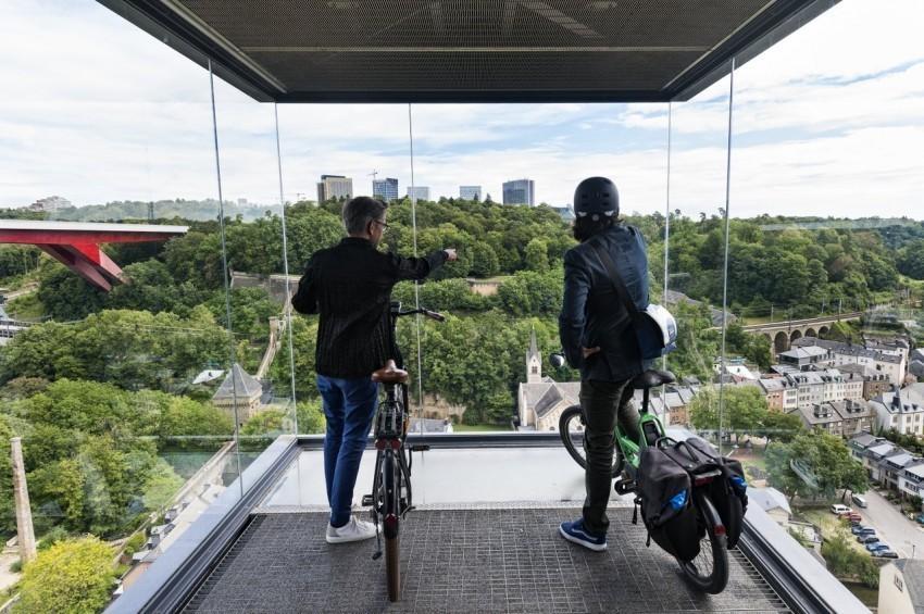 UNESCO fietsroute door Luxemburg Stad