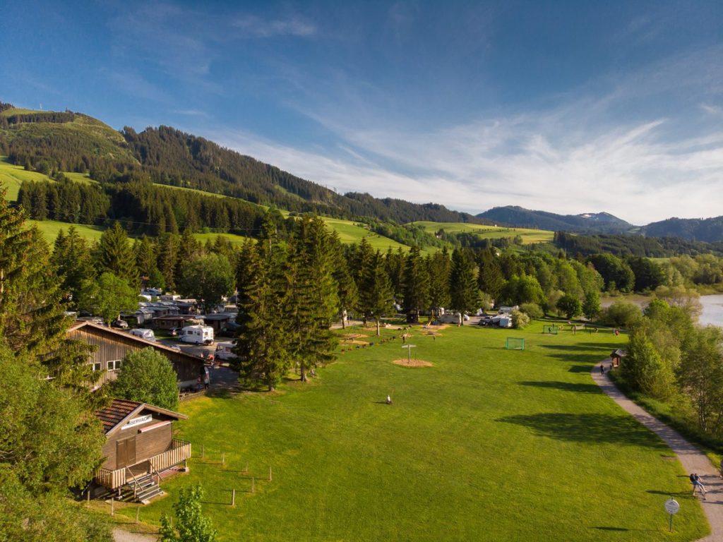 betoverende landschap van de Allgäu