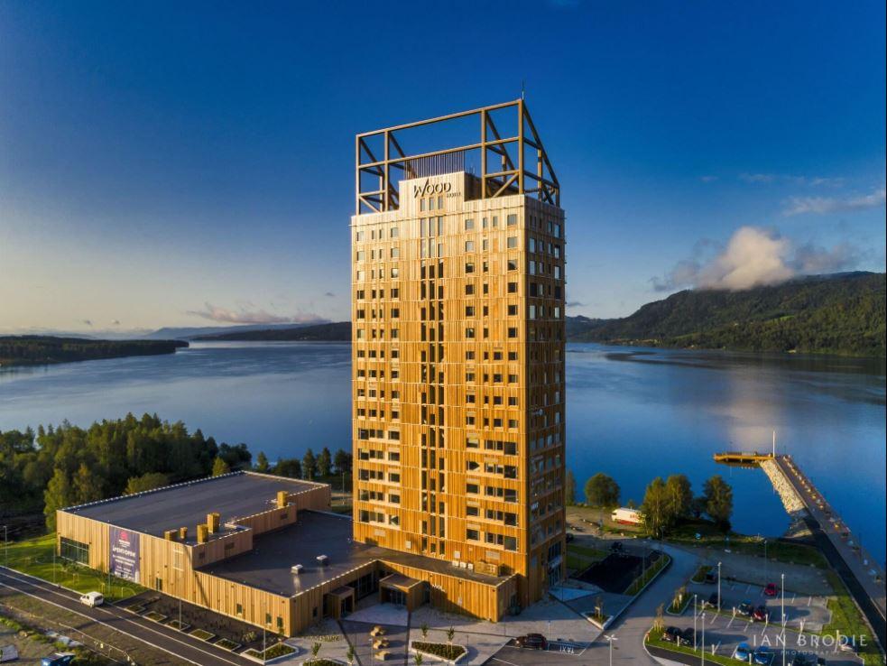 Het 'Woodhotel' in Skellefteå